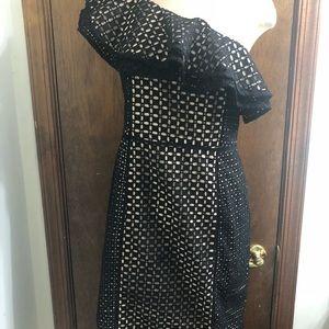 JCREW One-Shoulder Ruffle Dress In Eyelet Size 6